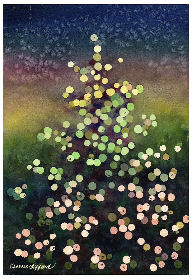 Lights Painting Painting - Light Up The Season by Anne Gifford