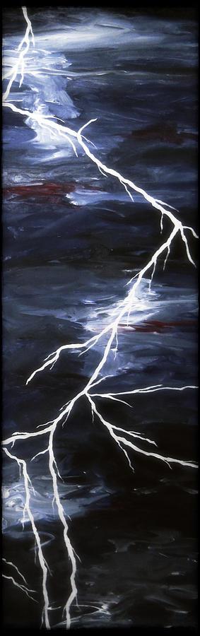 Lightening Bolt Painting - Lightening Bolt Painting Fine Art Print by Laura Carter