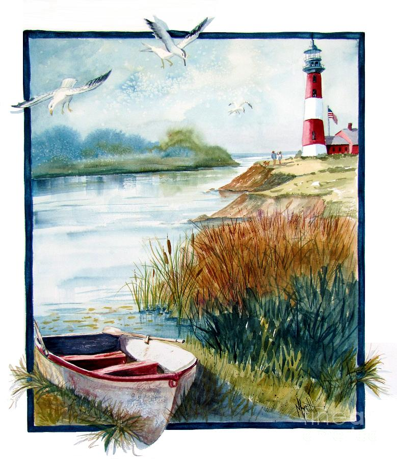 Lighthouses Painting - Lighthouse 1 by Marilyn Smith