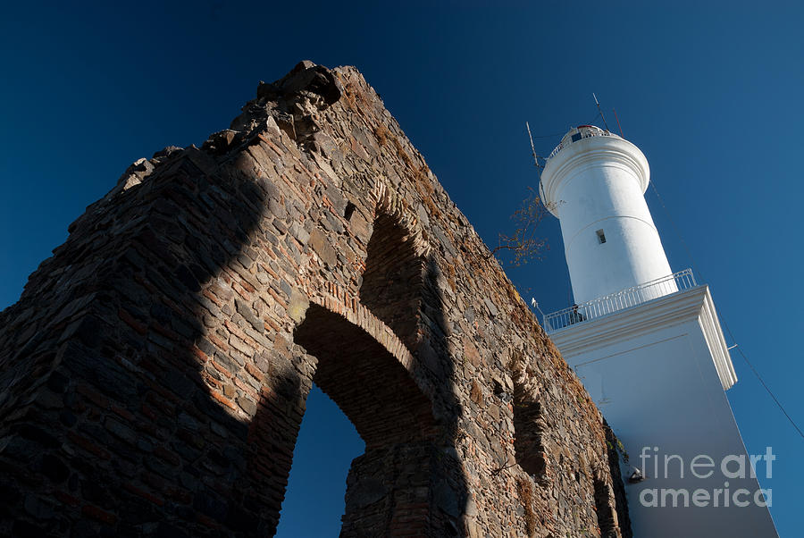 America Photograph - Lighthouse And Ruin Of The Convento De San Fransisco In Colonia - Uruguay by OUAP Photography