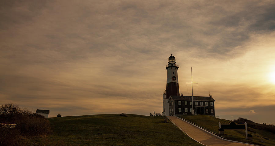 Lighthouse At Montauk Point, Long Photograph by Alex Potemkin
