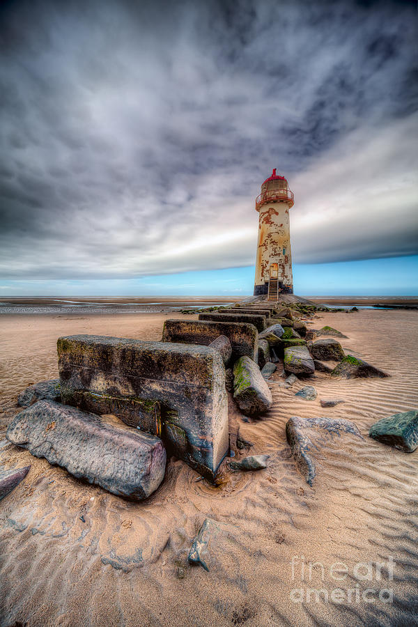 Beach Photograph - Lighthouse At Talacre  by Adrian Evans