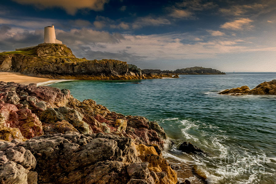 Anglesey Photograph - Lighthouse Bay by Adrian Evans