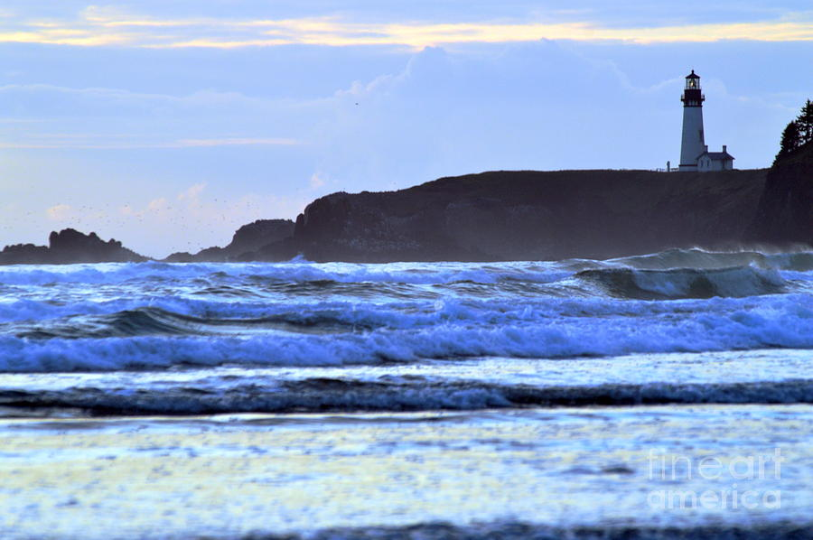 Lighthouse Photograph - Lighthouse Blues by Sheldon Blackwell