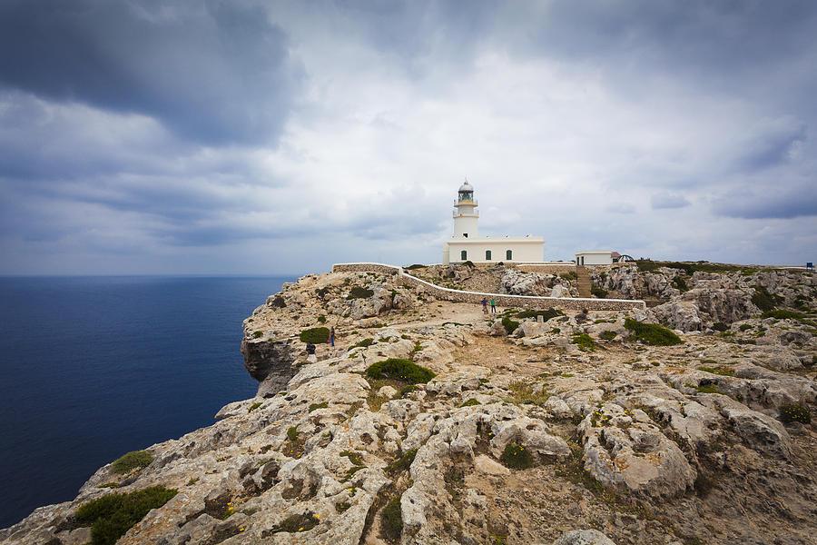 Sea Photograph - Lighthouse Caballeria by Antonio Macias Marin