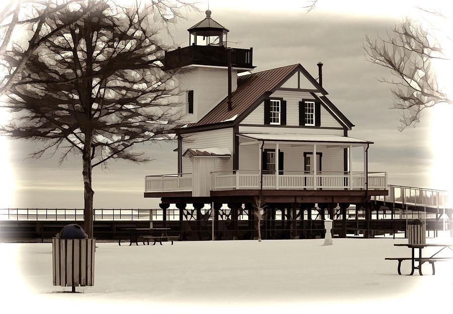 House Photograph - Lighthouse by Carolyn Ricks