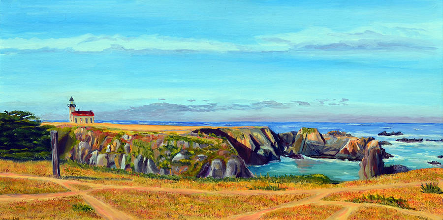 Point Cabrillo Painting - Lighthouse Cove by Donald Gazzaniga