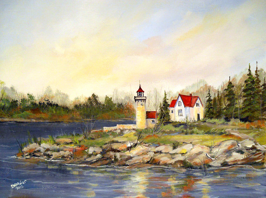 Lighthouse Painting - Lighthouse by Dorothy Maier