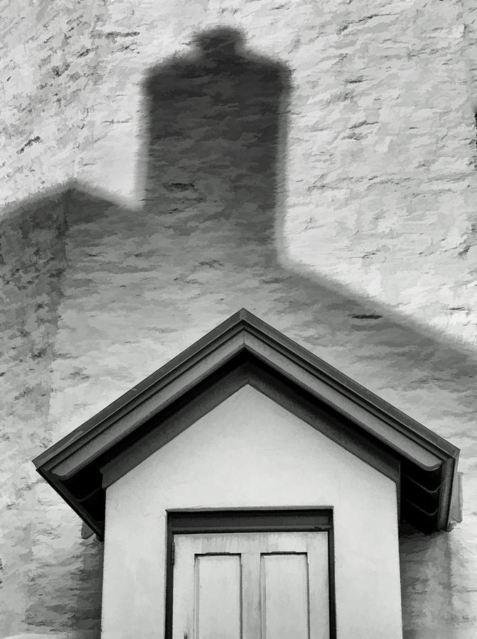 Lighthouse Entrance In Shadow Photograph