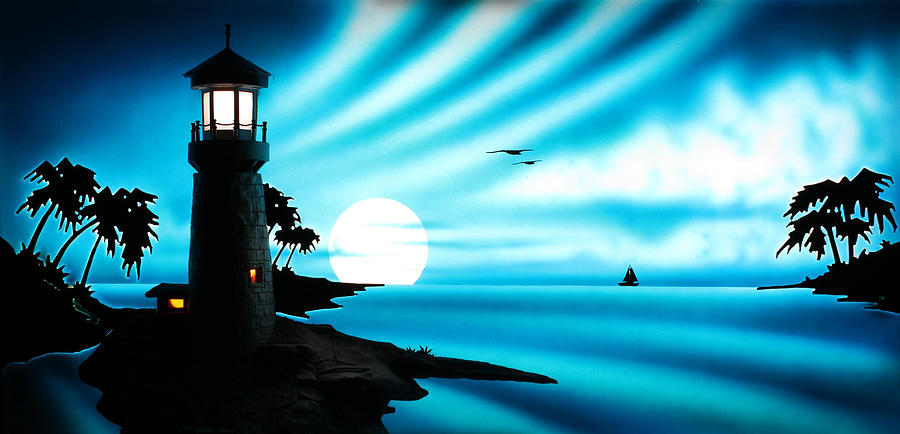 Lighthouse Painting - Lighthouse by Frank Parrish