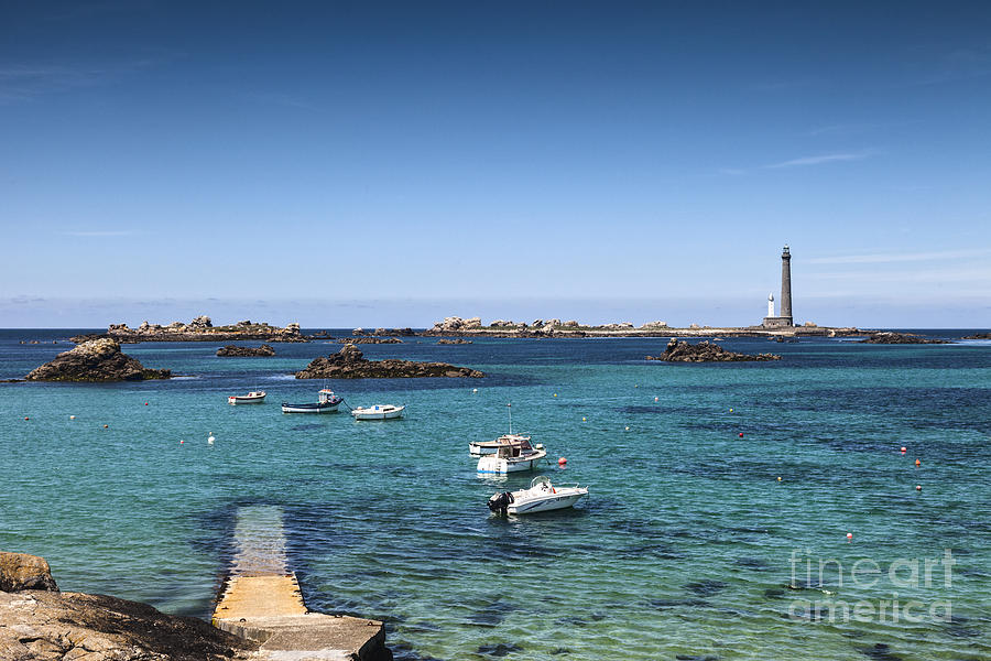 Brittany Photograph - Lighthouse Ile Vierge Brittany France by Colin and Linda McKie
