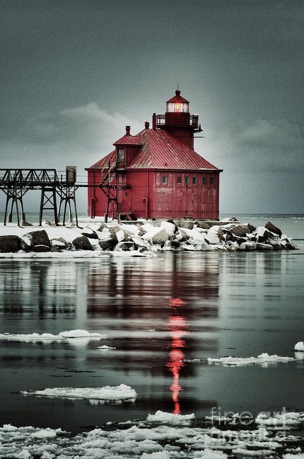 Canal Photograph - Lighthouse In The Darkness by Ever-Curious Photography