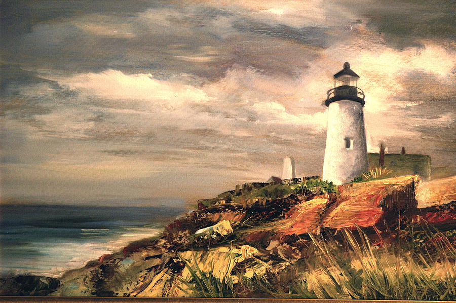 Land/seascape Painting - Lighthouse by Jolyn Kuhn