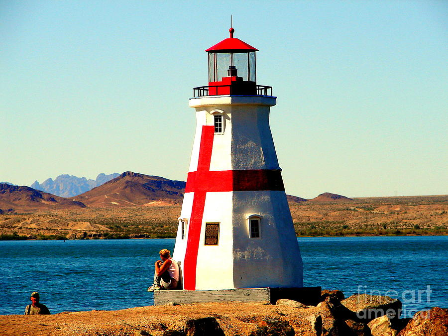Lighthouse Photograph - Lighthouse Lake Havasu by John Potts