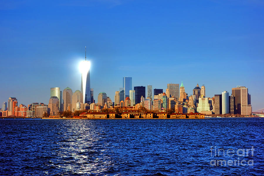 New Photograph - Lighthouse Manhattan by Olivier Le Queinec
