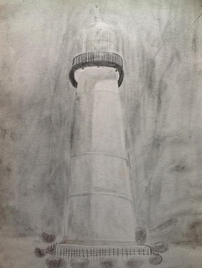Lighthouse Drawing - Lighthouse by Noah Burdett