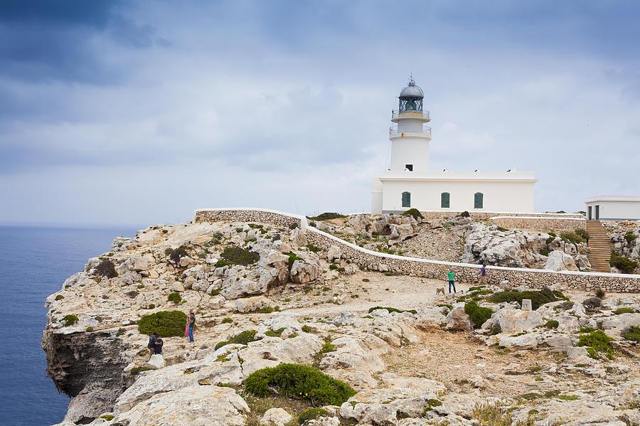 Lighthouse. Sea ocean Mediterranean Photograph - Lighthouse Of Caballeria by Antonio Macias Marin