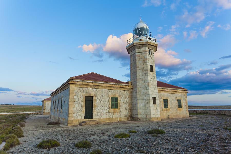 Sky Photograph - Lighthouse Of Punta Nati by Antonio Macias Marin