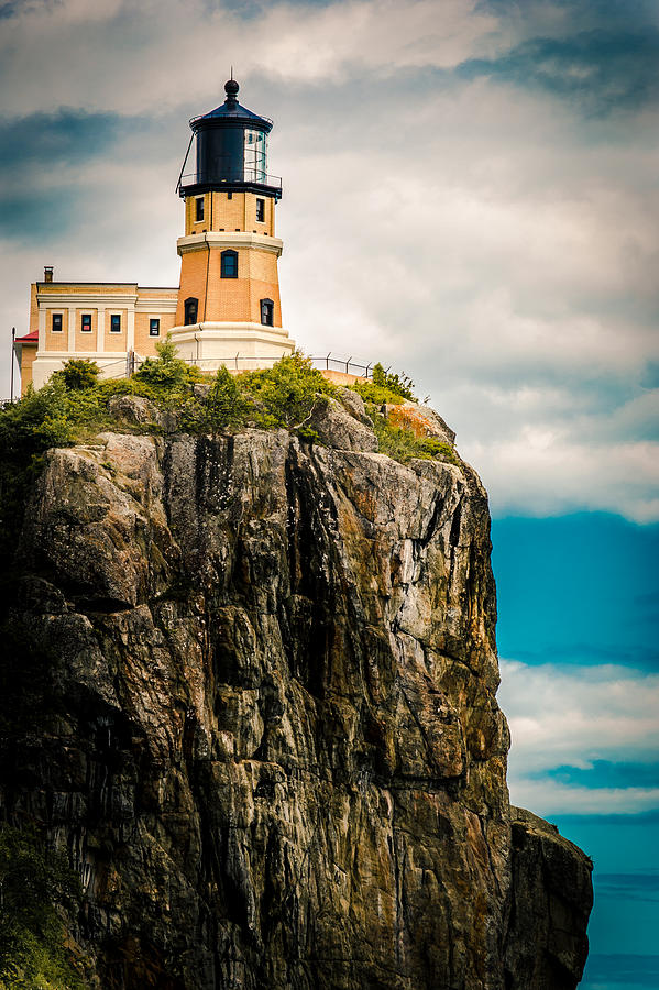 Two Harbors Photograph - Lighthouse On Split Rock by Ever-Curious Photography
