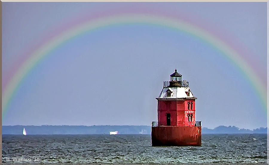 2d Photograph - Lighthouse On The Bay by Brian Wallace