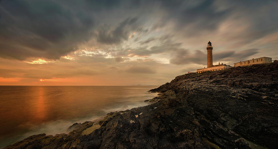 Horizontal Photograph - Lighthouse On The Coast, Ardnamurchan by Panoramic Images