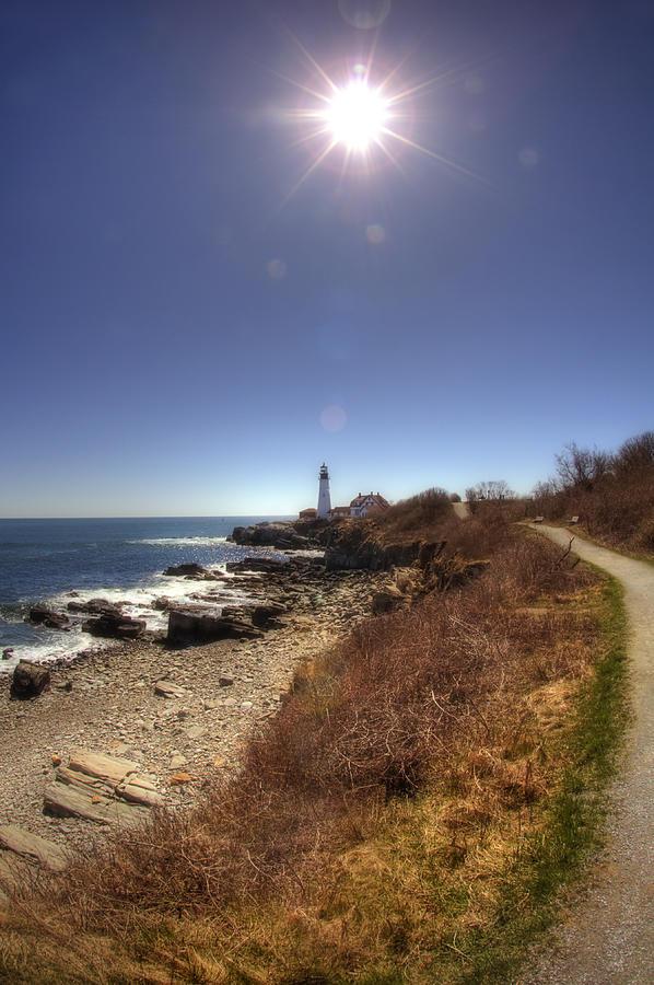 Atlantic Ocean Photograph - Lighthouse Path by Joann Vitali