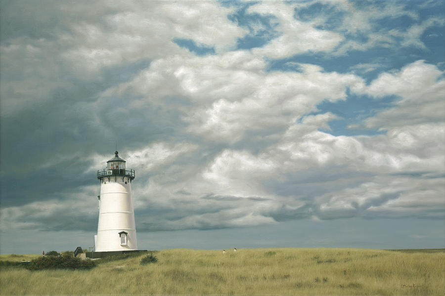 Cape Cod Painting - Lighthouse Picnic by Julia OMalley-Keyes