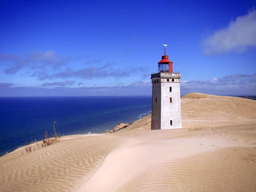 Lighthouse Photograph - lighthouse Rubjerg by Giorgio Darrigo