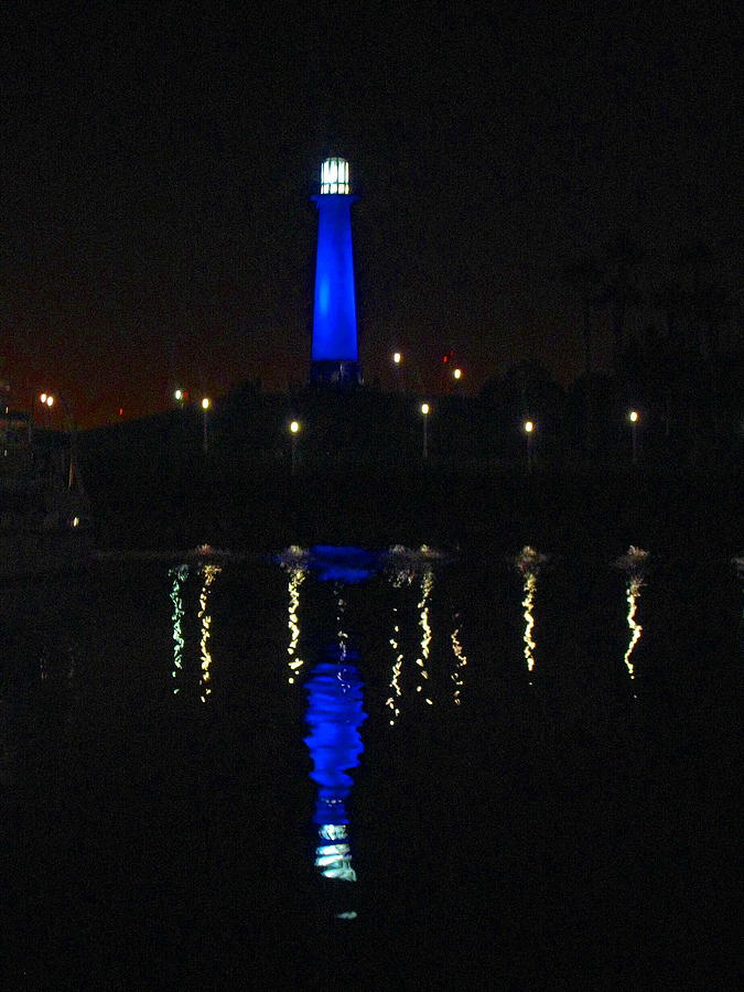 Bright Photograph - Lighthouse San Pedro Bay by Candee Lucas