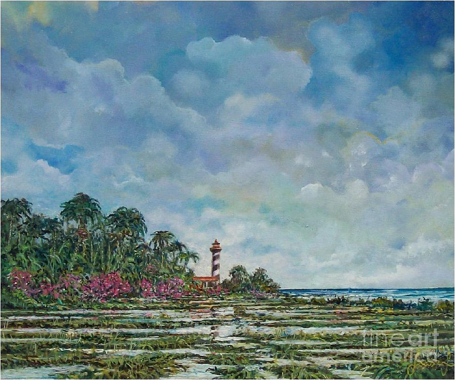Nature Painting - Lighthouse by Sinisa Saratlic