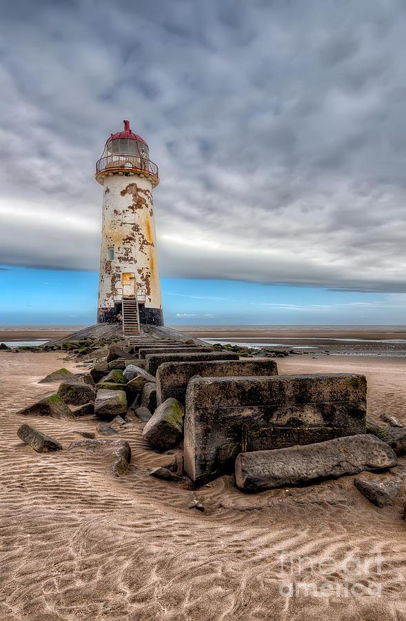 Beach Photograph - Lighthouse Steps by Adrian Evans