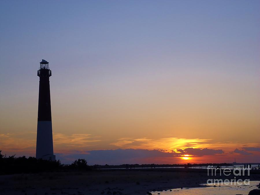 Sunrise Photograph - Lighthouse Sunset by Art Dingo