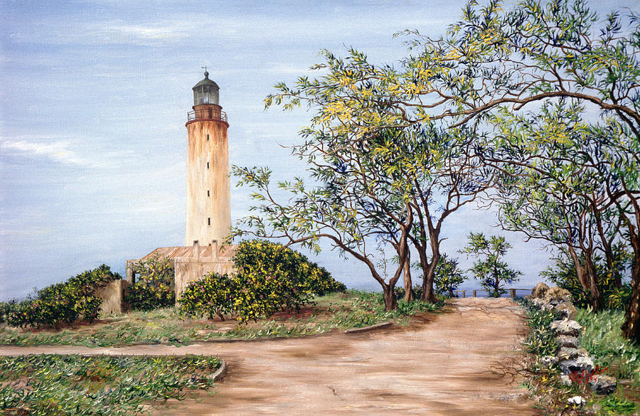 Caribbean Painting - Lighthouse by Victor Collector