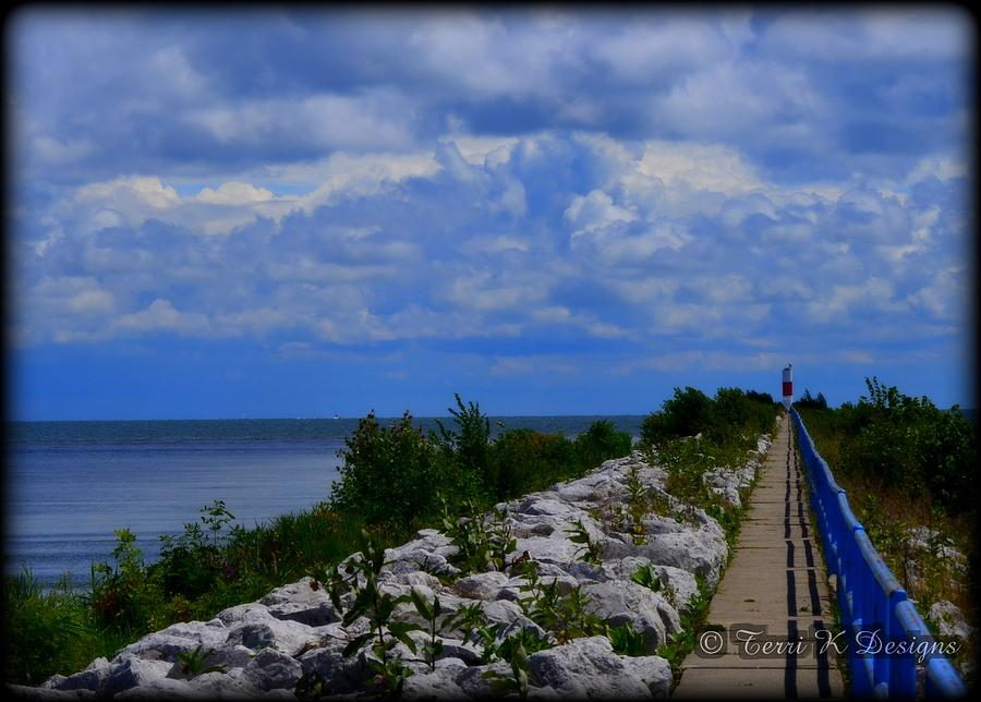 Blue Photograph - Lighthouse Walk by Terri K Designs