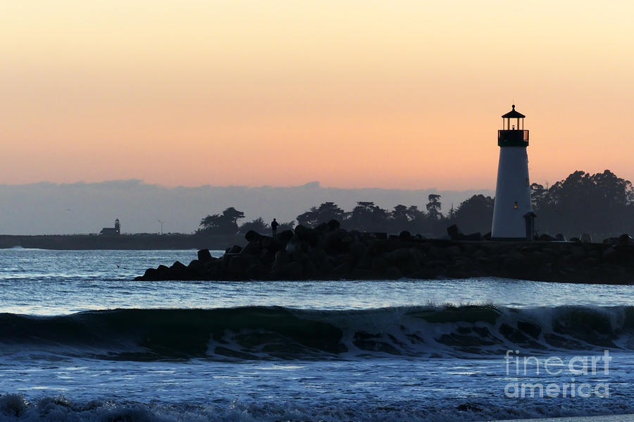 Lighthouse Photograph - Lighthouses Of Santa Cruz by Paul Topp