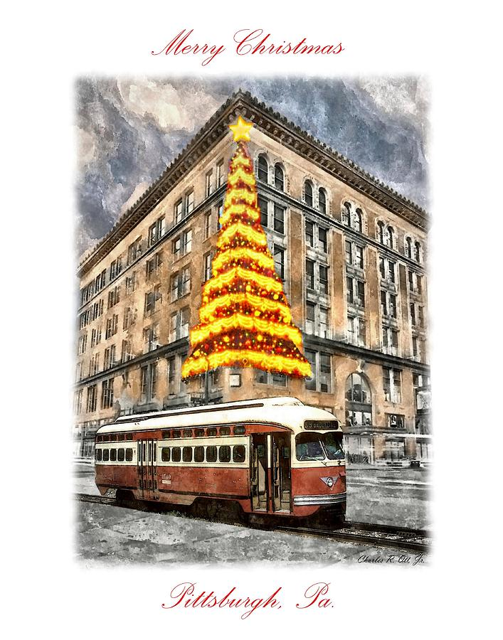 Architecture Painting - Lighting of the Hornes Christmas Tree by Charles Ott
