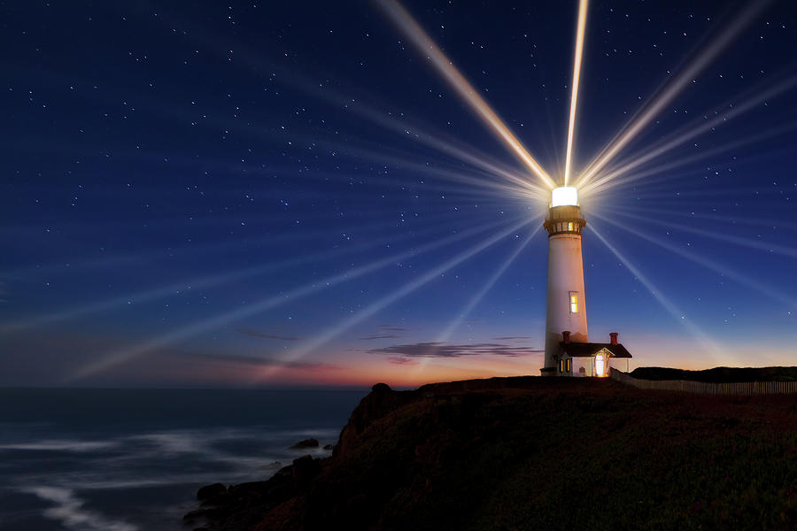 Lighthouse Photograph - Lighting Of The Lens by Miles Morgan