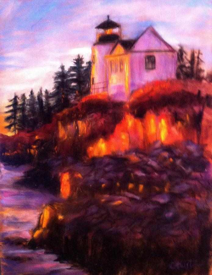 Lighthouse Painting - Lighting The Way by Gail Kirtz