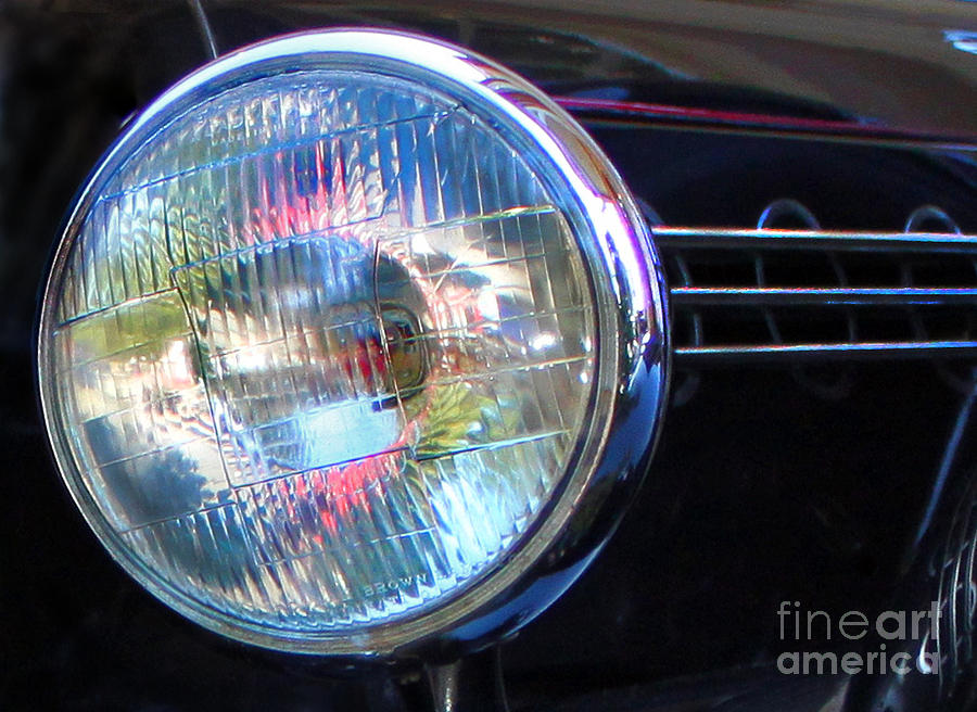 Headlight Photograph - Lighting The Way by Gee Lyon