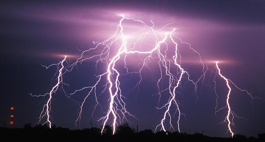 Lightning , Tornado Alley , USA Photograph by Samuel D. Barricklow