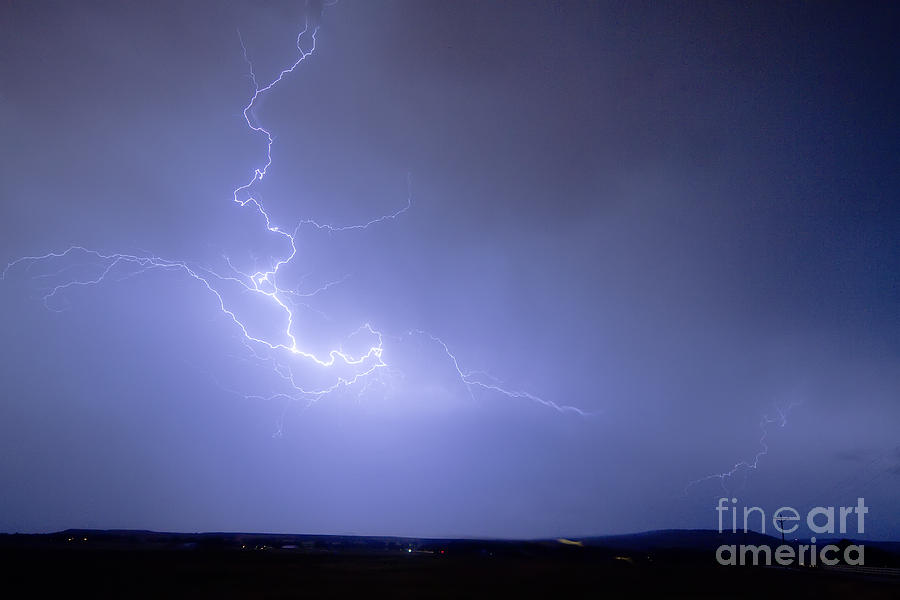 Lightning Photograph - Lightning Goes Boom In The Middle Of The Night by James BO  Insogna