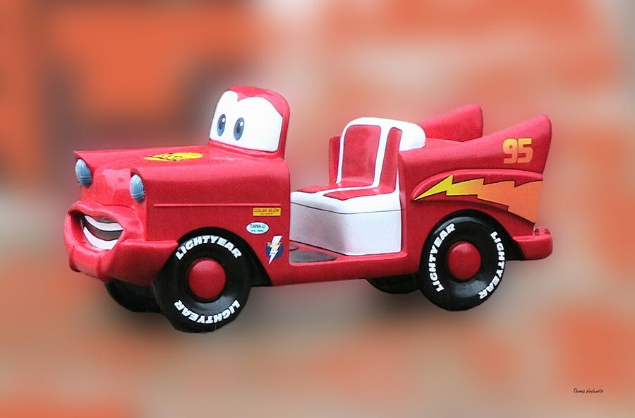 Lightning Mcqueen Photograph - Lightning Mcqueen by Thomas Woolworth