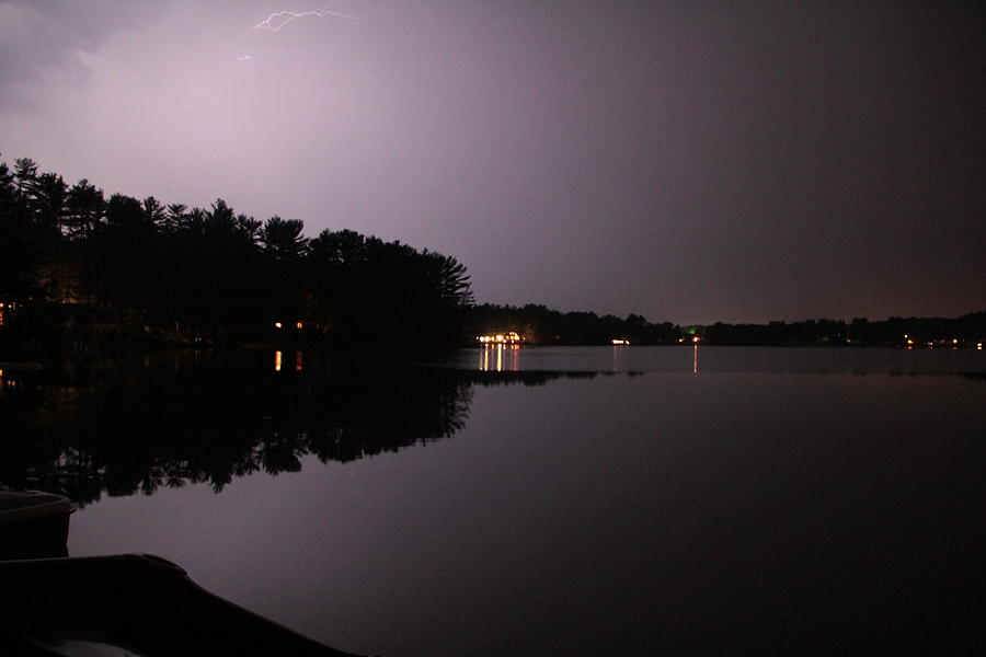 Water Photograph - Lightning Over Water by Sarah Klessig