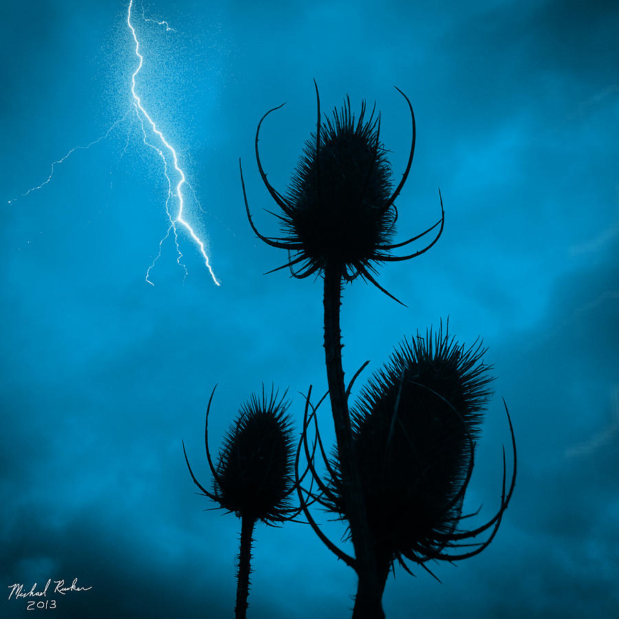 Lightning Photograph - Lightning Spikes by Michael Rucker