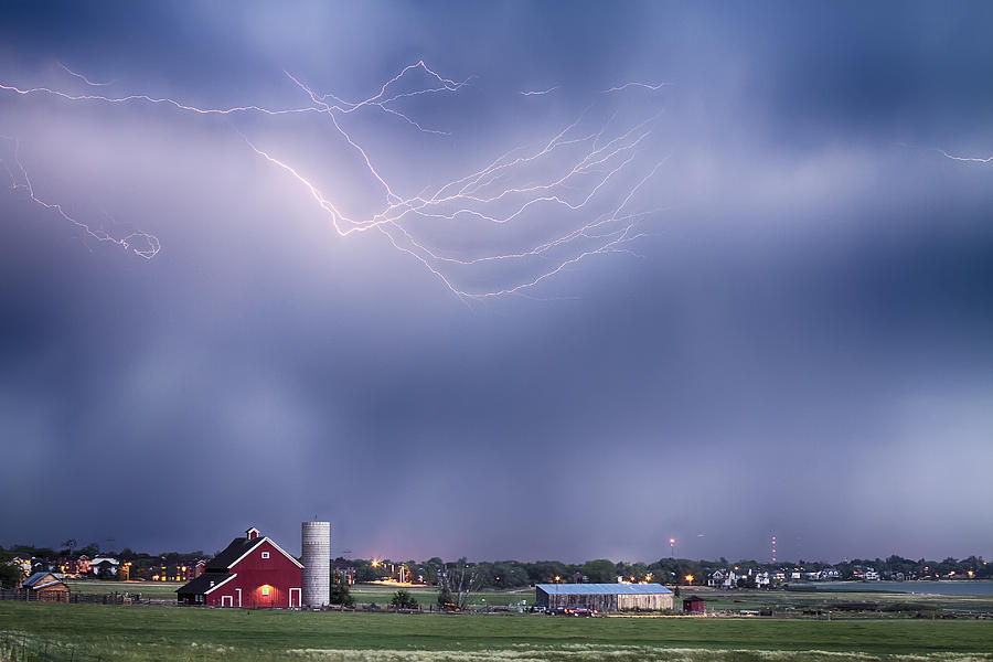 Lightning Photograph - Lightning Storm And The Big Red Barn by James BO  Insogna