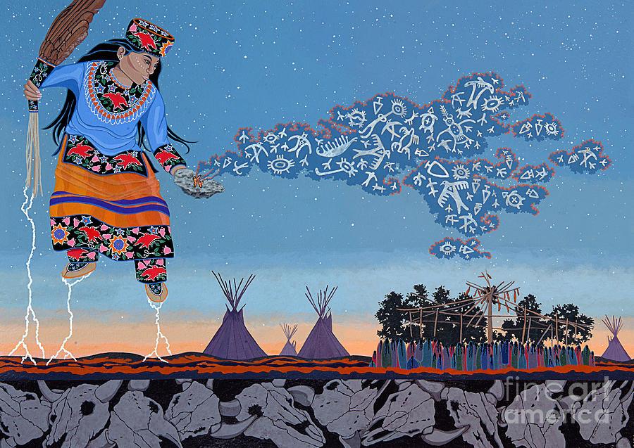 America Painting - Lightning Walker by Chholing Taha