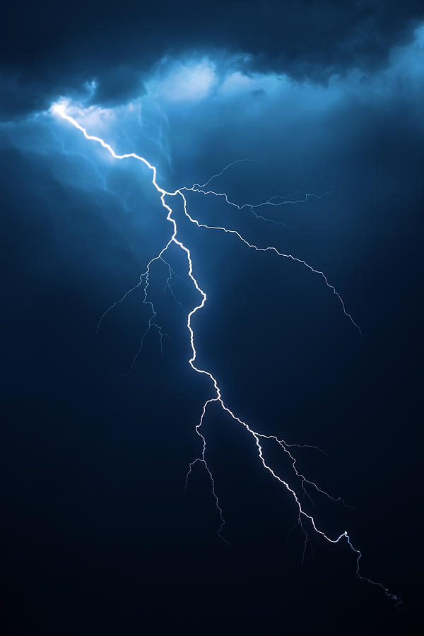 Lightning With Cloudscape Photograph