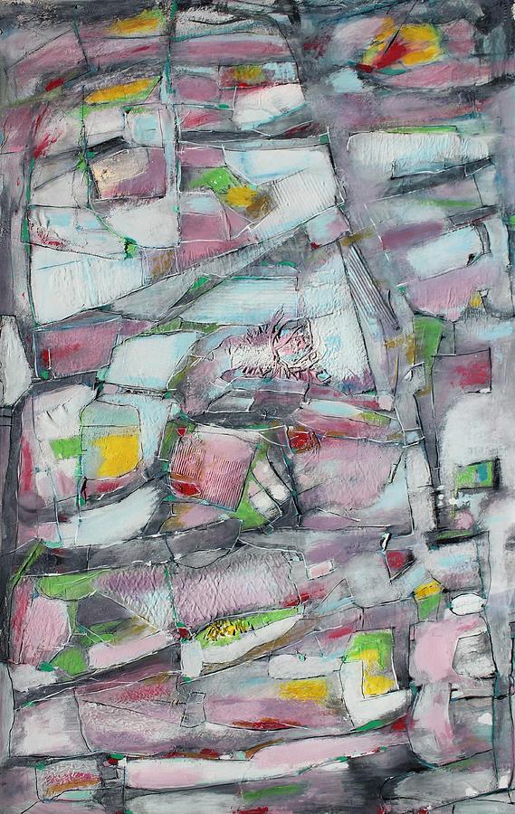 Abstract Painting Painting - Lights Along The Way by Hari Thomas
