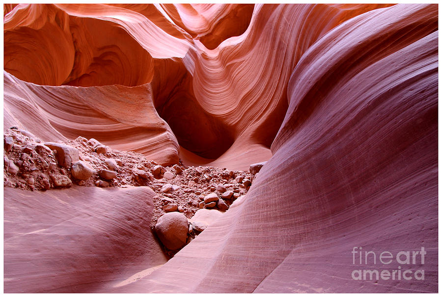 Nature Photograph - Lights And Rocks In The Canyon by Ruth Jolly