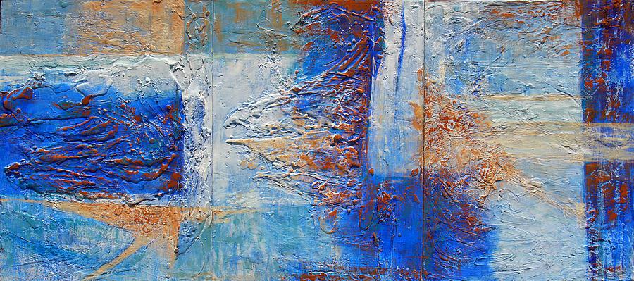 Abstract Painting - Lights I by Olga Navarro